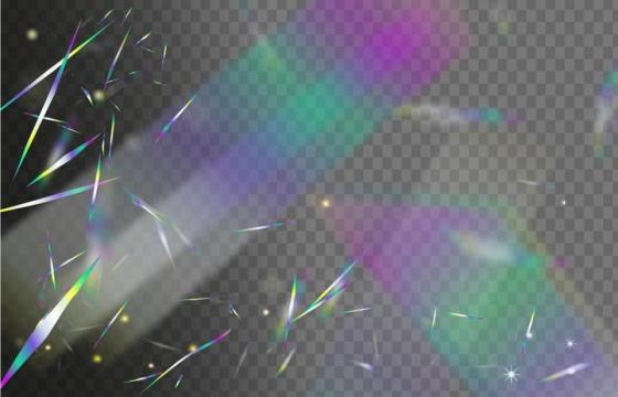 飘落的模糊彩色渐变色碎纸片彩带装饰图片免抠矢量图素材