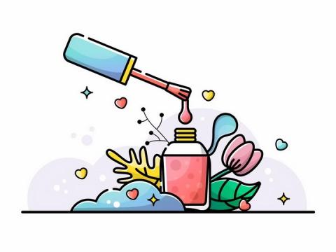MBE风格指甲油化妆用品png图片免抠矢量素材