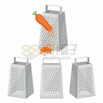 各种不同角度的刨丝器切丝器切菜器厨房用品png图片免抠矢量素材