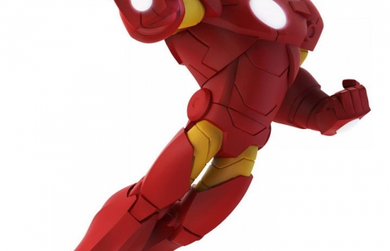 简约风格的红色钢铁侠战甲漫威电影超级英雄图片免抠素材
