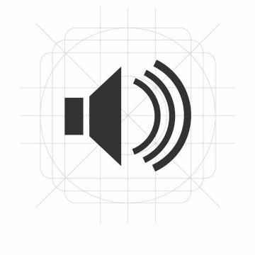 APP声音图标png图片免抠矢量素材
