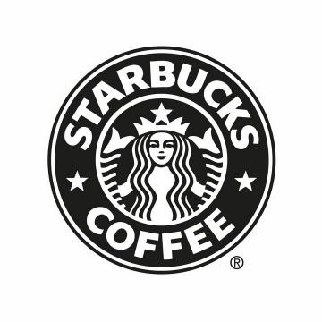 黑色星巴克咖啡logo标志png图片免抠矢量素材