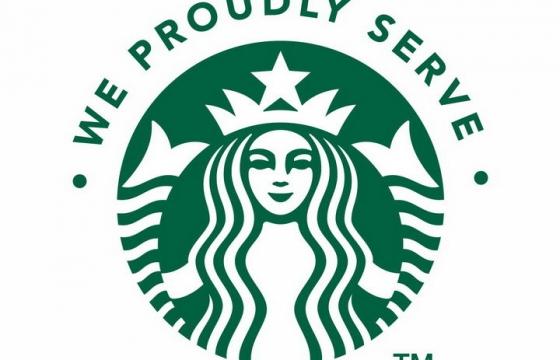 蓝色经典星巴克咖啡logo标志png图片免抠矢量素材