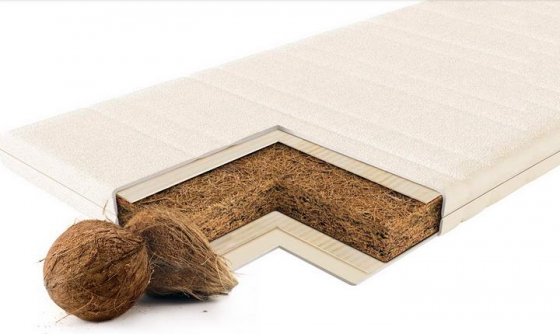 棕榈床垫全棕床垫椰棕床垫解剖示意图png图片透明背景免抠素材