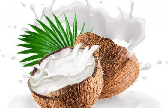 切开的椰子椰子汁热带水果图片免扣素材