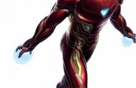 正在飞行的钢铁侠纳米战甲血边战甲漫威电影超级英雄图片免抠素材
