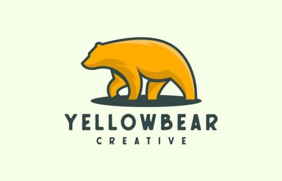 简约风格棕熊LOGO设计方案图片免抠矢量素材