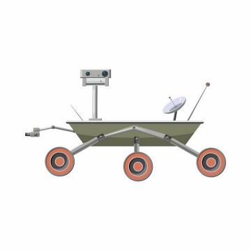 火星探测车侧视图png图片免抠矢量素材