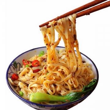 筷子夹起来的美味重庆酸辣粉凉粉png图片免抠素材