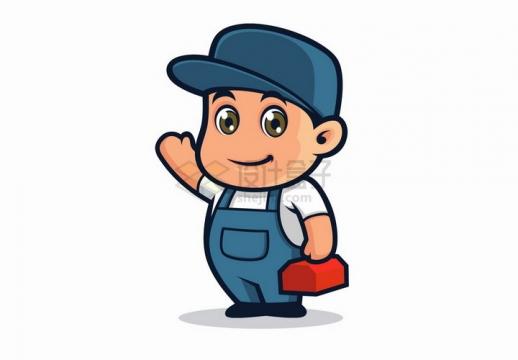可爱的卡通维修工人png图片免抠矢量素材