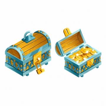 卡通金币箱宝物箱122020png图片AI矢量图素材