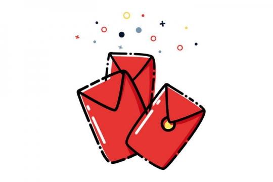 MBE风格手绘红包图片免抠素材