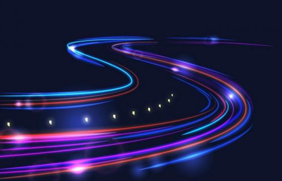 流光溢彩的延时摄影光轨效果背景图片