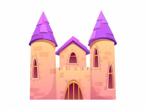 紫色屋顶的卡通城堡855638png图片AI矢量图素材