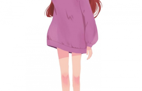 可爱的卡通妹子充满青春活力的美少女插画png图片免抠素材