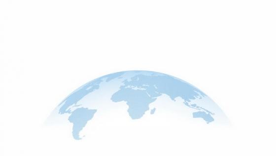 半透明淡蓝色地球世界地图装饰png图片免抠eps矢量素材