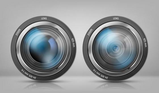 两款照相机镜头图片免抠素材