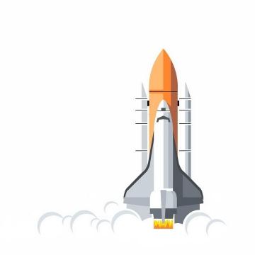 扁平化风格正在起飞的航天飞机png图片免抠eps矢量素材