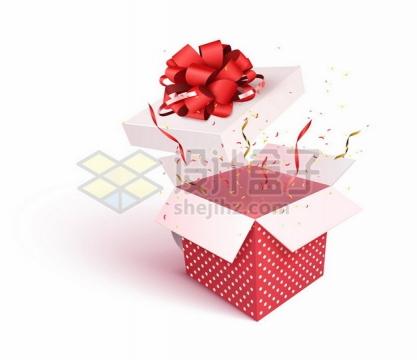 打开的礼物盒中飞出的彩色纸片碎片498942png矢量图片素材