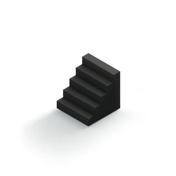 黑色立体台阶图片免扣素材