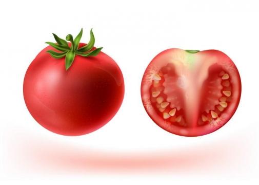 切开的西红柿番茄水果蔬菜图片免抠素材