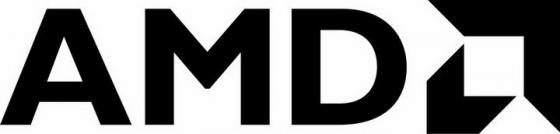 黑色简约CPU处理器品牌AMD标志LOGO图片免抠素材