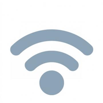 蓝灰色wifi标志png图片素材236983