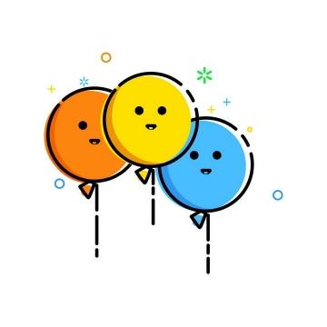 MBE风格卡通可爱表情气球图片免抠素材