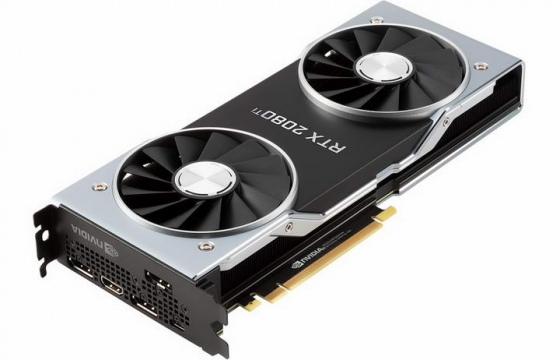 英伟达Nvidia RTX 2080显卡电脑配件图片透明背景免抠素材