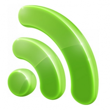 3D立体绿色wifi标志png图片素材676893