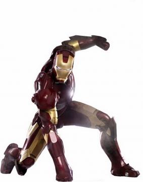拳头击打地面的钢铁侠漫威电影超级英雄图片免抠素材