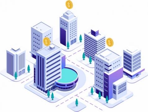 3D城市建筑街道模型335809png图片素材