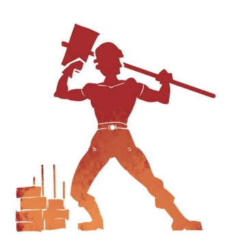 五一劳动节工人劳动人民剪影图片免抠素材