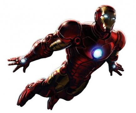 正在飞行中的钢铁侠漫威电影超级英雄图片免抠素材