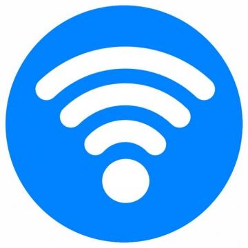 蓝底免费wifi标志图标png图片素材1476887