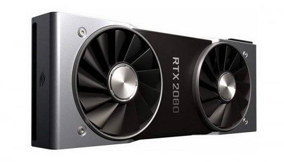 双风扇英伟达Nvidia RTX 2080显卡电脑配件图片透明背景免抠素材