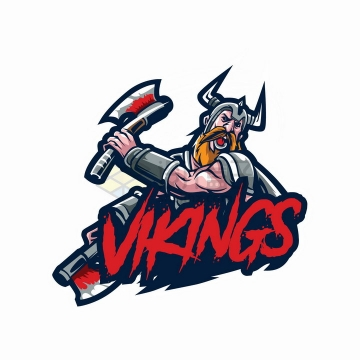 拿斧头的维京战士logo设计png图片免抠矢量素材