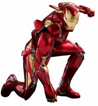 拳头击打地面的Mark50战甲钢铁侠漫威电影超级英雄图片免抠素材