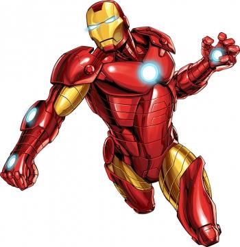 挥舞拳头的Mark45钢铁侠战甲漫威电影超级英雄图片免抠素材