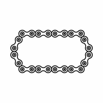白色的自行车链条图案png图片免抠矢量素材