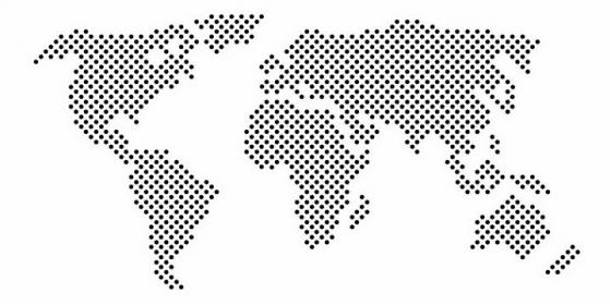 小圆点组成的世界地图图案图片png免抠素材