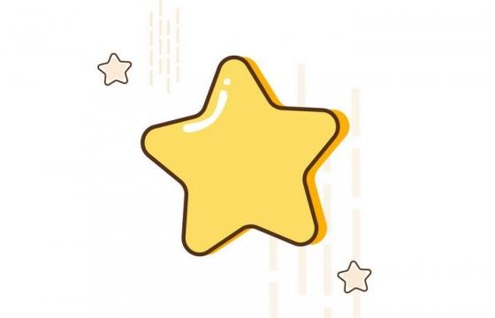 MBE风格五角星小星星图片免抠素材