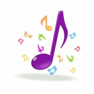 紫色音符音乐符号486057png图片素材