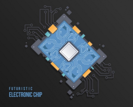电脑主板电路图片免抠矢量素材