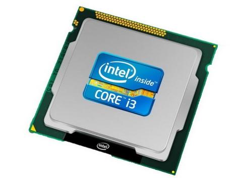 高清英特尔intel酷睿i3处理器电脑配件图片透明背景免抠素材