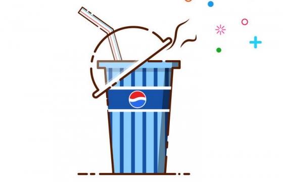 MBE风格百事可乐饮料吸管图片免抠素材