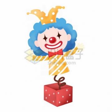 愚人节盒子里的小丑玩偶274391png免抠图片素材