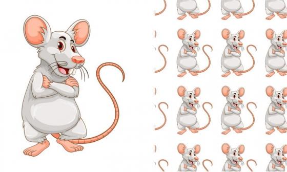 可爱的灰色卡通小老鼠图片免抠矢量图素材