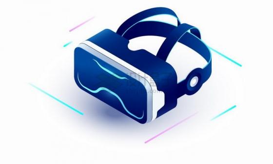 3D立体风格超炫的VR眼镜虚拟现实技术png图片免抠矢量素材