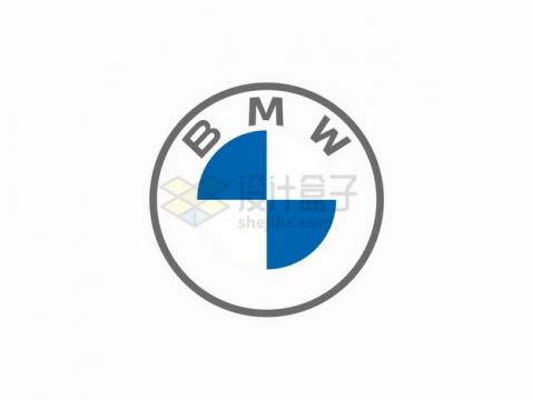 扁平化风格新版宝马汽车logo标志车标png图片素材